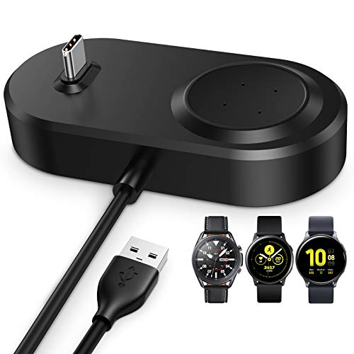 ZEBRE Wireless Charger Compatible with Samsung Watch/Buds and More Type-C Interface Earbuds,2 in 1 Charging Dock Stand Accessories for Galaxy Watch 3/Active 2/Active/Galaxy Buds/Buds+/Buds Live