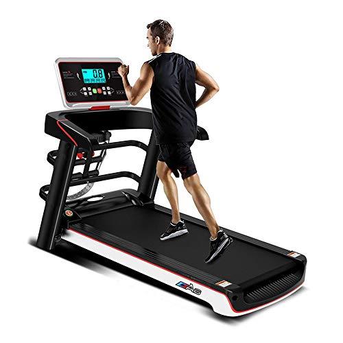 WJDZSB Laufband für Zuhause, Laufband Klappbar Elektrisch mit LED Monitor, Abnehmen Mute Gehmaschine, für Heimtraining, Workout, Fitness, Robuste Laufmaschine, Bis 12.5km/hblack