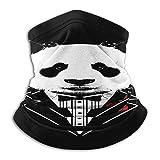 Photo de Custom made Desiigner Panda Écharpe tube ronde Noir – Idéal comme coupe-vent, cache-cou, cache-cou, foulard, écharpe tubulaire et chapeau