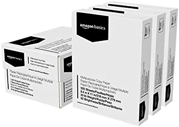 1500-Count Amazon Basics Multipurpose Copy Printer Paper