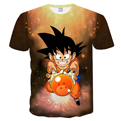 Douzxc Anime Heren T-Shirts Sport T-Shirts Fitness Tights 3D Dragon Ball Print T-Shirt Met Korte Mouwen