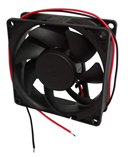 AERZETIX: Ventilador para Caja de Ordenador PC 24V 80x80x25mm 69,7m3/h 33dBA 3200rpm 1.8W 0.073A con Bolas 2 Cables 28AWG C14582