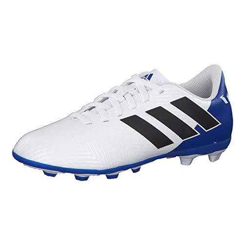 Adidas Nemeziz Messi 18.4 FxG J, Botas de fútbol Unisex niño, Blanco (Ftwbla/Negbás/Fooblu 001), 38 EU