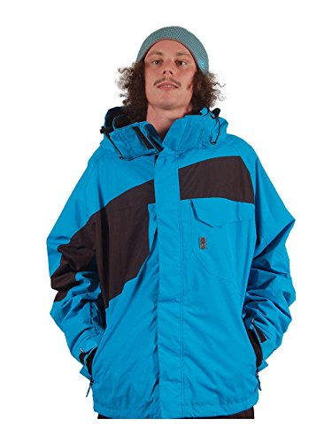 Light Herren Snowboard Jacke Elmo, Herren, blau/schwarz (Electric Blue/Black), XL