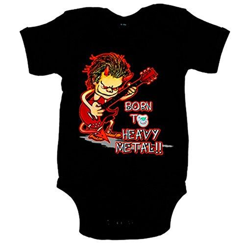 Body bebé Born to Heavy Metal Baby diablo guitarra bebé nacido para