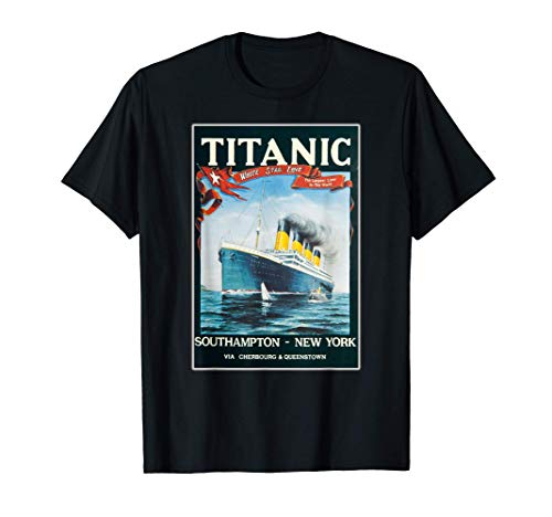 Vintage Titanic Barco Regalo de Dibujos Animados Camiseta