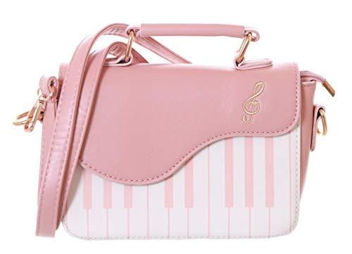 Kawaii-Story LB-170-1 roze piano piano toetsen muziek schouder tas Lolita pastel Goth
