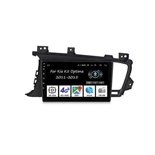 Car Multimedia Autoradio Doppeldin Radio Mit Navigation Für Kia K5 Optima 2011-2015 Auto Zubehör Einfügen Und Verwenden Navigationsgeräte GPS Car Video Player Steering Wheel Control,4 Cores 2G+32G