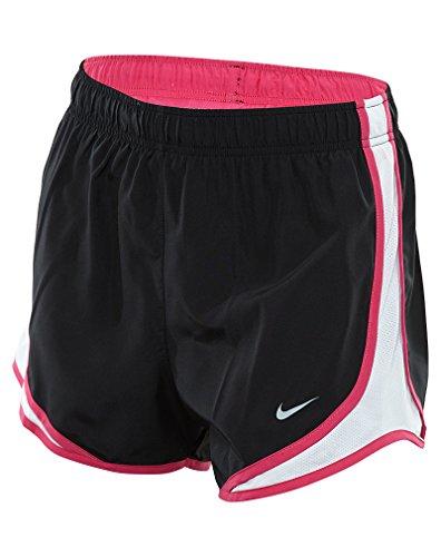 Nike Women's Dry Tempo Short, Black/White/Vivid Pink, Large