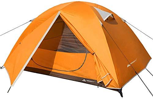 Forceatt Tienda De Campaña 3 Personas, con 100% A Prueba De UV/Viento/Impermeable, Tienda de Techo de Doble Capa Portátil Ultraligera, para Trekking, Camping, Playa, Aventura Etc