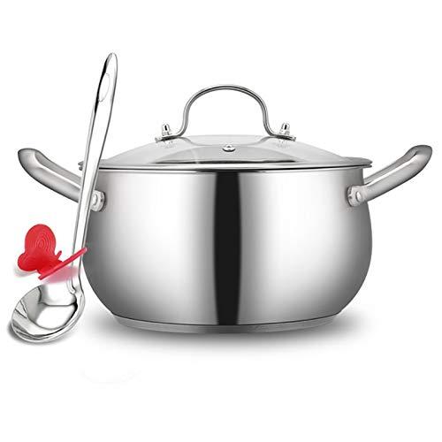 Olla de cocción al vapor, acero inoxidable 304, olla de sopa/olla caliente, hogar, 18/20/22/24 cm, apta para cocina de inducción/estufa de gas (1-7 personas) sartén (tamaño: 24 cm)