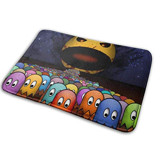 Bikofhd Door Mat Pac-Man Non-Slip Bath MatDecorative Doormat,Bathroom Kitchen Floor Carpet Mat 23.6x15.8