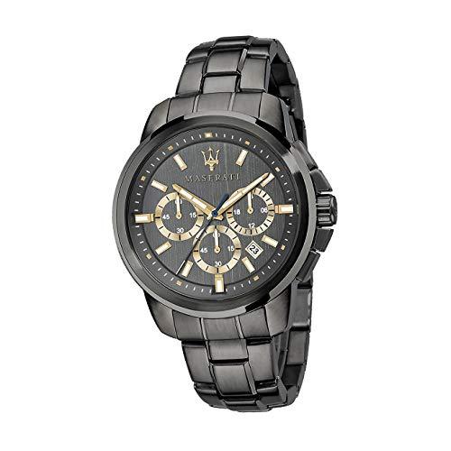 Maserati Successo D2UMAR8873621007 - Reloj de pulsera para hombre, cronógrafo, acero inoxidable, color gris