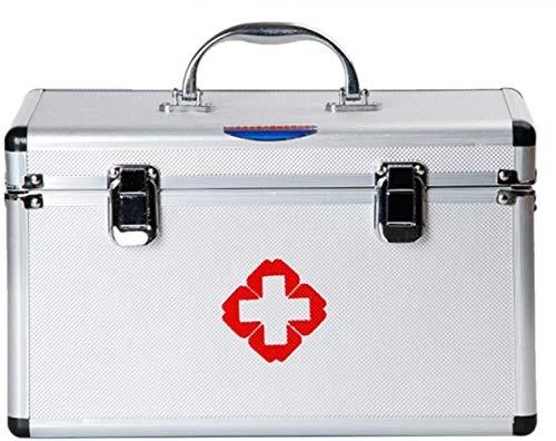 NYDZDM Teck Pic First Aid Medicine Case Box Multi Couches en Aluminium Vinaigrette Cas Boîte de Premiers Soins
