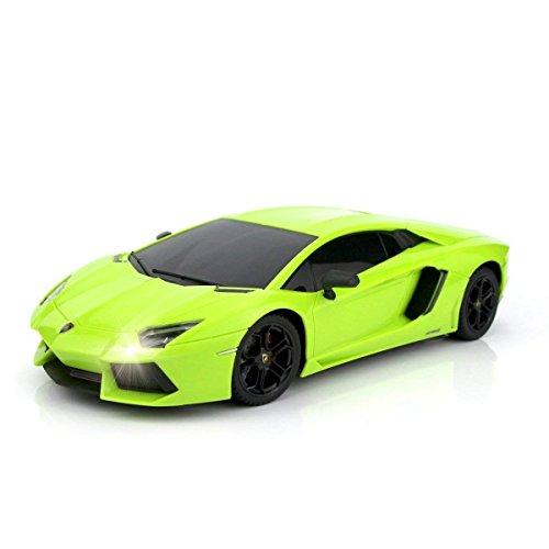 QUN FENG Fernbedienung Auto 1:18 RC Auto Autorisiert von Lamborghini Aventador Funkferngesteuertes ElektroautoGrade Modellfahrzeug für Kinder Jungen und Mädchen (Grün)