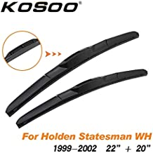 Wipers Hukcus For Holden Statesman WH WK WL WM 1999 2000 2001 2002 2003 2004 2005 2006 2007 2008 2009 2010 Car Wiper Blade Accessories - (CN, Color: Statesman WH 2220)