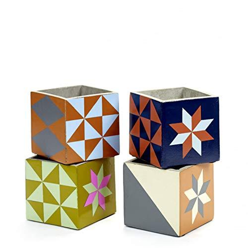 Serax 4 Pots Béton Cubique Marie Print 11 x 11 x 11 cm
