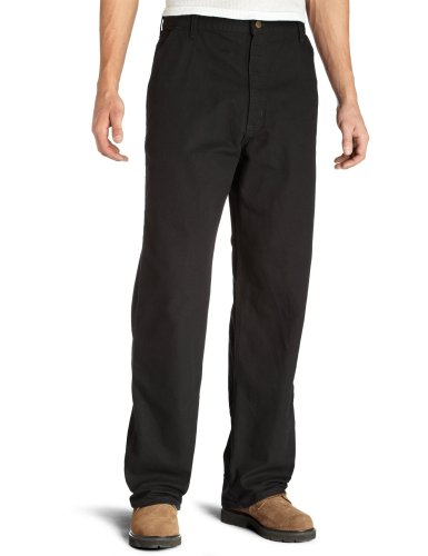 Carhartt Men's Washed Duck Work Dungaree Pant, Black, 33W X 30L