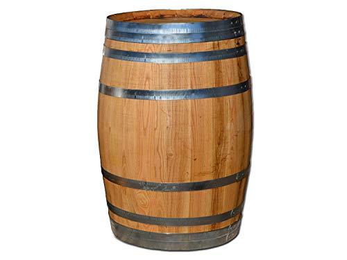 Temesso Barril de Madera 100 litros, Mesa Auxiliar, Barril Nuevo, Barril en Madera de castaño (Barril 100 litros Cerrado y tratado con Aceite)