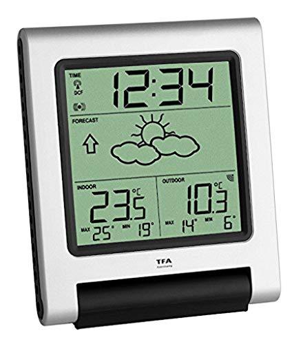 TFA Dostmann Spectro Funk-Wetterstation, 35.1089, mit Wettervorhersage, Raumtemperatur, Außentemperatur