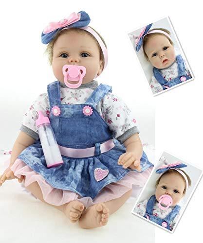 ZIYIUI Realistic 22''/55cm Reborn Baby Dolls Real Life Soft Silicone Vinyl...