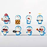 Dhl 8 Styles Doraemon Anime Roboter-Katze Auto-Kuchen-Dekoration Ornamente Tinkerbell Modell Spielzeug 5CM