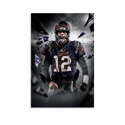 GSSL American Football Tom Brady Tampa Bay Buccaneers Poster, dekoratives Gemälde, Leinwand, Wandkunst, Wohnzimmer, Poster, Schlafzimmer, Malerei, 30 x 45 cm