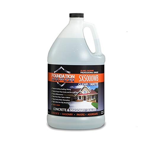 1-Gal. SX5000 WB DOT Approved Water Based Silane Siloxane Penetrating Concrete Sealer, Brick Sealer, and Paver Sealer