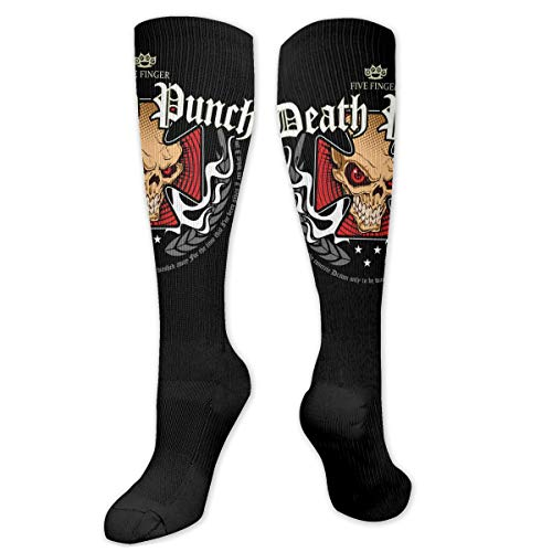 Five Finger Death Punch - Iron Cross Socks Chic Wear-Resistant Unisex Best for Running/Travel/Cycling Knee Long Socks