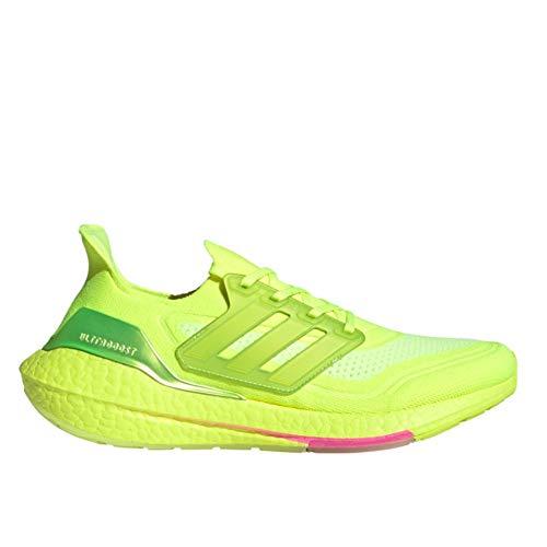 adidas Ultraboost 21, Zapatillas para Correr Hombre, Solar Yellow/Solar Yellow/Screaming Pink, 48 EU