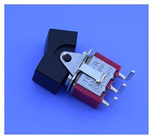QHMDZ Interruptor basculante 2 unids/Lote T80-R R8017-R11 Horizontal Dip-3 o Dip-6 2 Bloque Tipo de Barco Rocker Toggle Switch (Color : Dip 3)