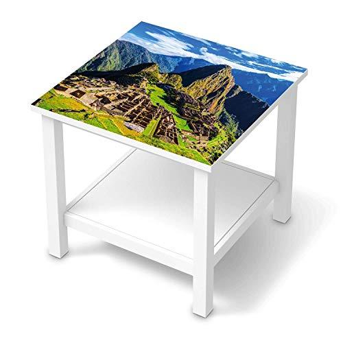creatisto Klebe-Folie Möbel passend für IKEA Hemnes Beistelltisch 55x55 cm I Möbelfolie - Möbel-Folie Tattoo Sticker I Schöner Wohnen für Schlafzimmer und Wohnzimmer - Design: Machu Picchu