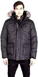 Toboggan Canada Ernie Mid Length Down Jacket, Mens, Black/Silver, Small, Ernie-Black/Silver-S
