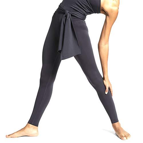 Nike Women's Power Studio Sculpt Victory Yoga Tights (Olive Grey/Black, Small)