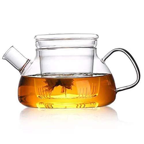 Cosy-YcY 1000 ml Borosilikatglas Teekanne Kaffeekanne mit hitzebeständigem Glas-Ei Teekanne kann auf dem Herd verwendet werden (1000 ml)