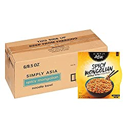 powerful Simply Asia 854285000893 Spicy Mongolian Noodle Bowl, 6 per pack