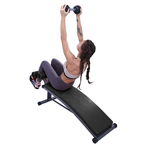 Product Image 6: Finer Form Sit Up Bench with Reverse Crunch Handle for Ab Bench Exercises – Abdominal Exercise Equipment with 3 Adjustable Height Settings (Black)
