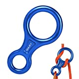 OMUKY - Tiratore per fune, 8 pezzi, in alluminio, accessorio per arrampicata (blu)