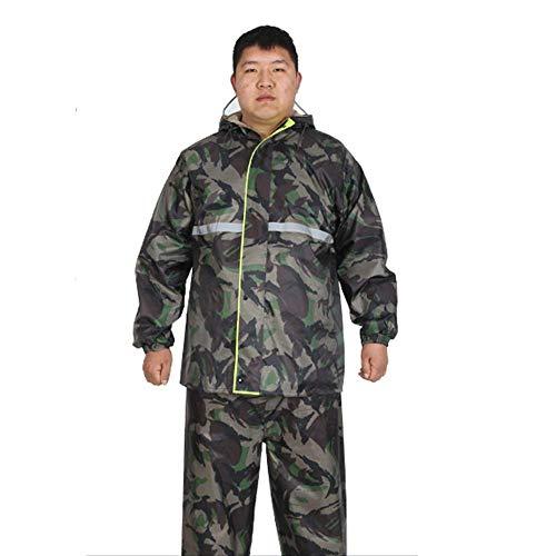 Guyuan Pantalon de Pluie pour Hommes et Femmes Fendu imperméable Extra-Large et Augmentation d'engrais augmentée Ensemble imperméable Grande Taille (Color : Green, Size : XXXXL)