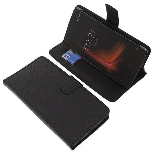 foto-kontor Tasche für Vernee Apollo Lite Book Style schwarz Kreditkarte Schutz Hülle Buch