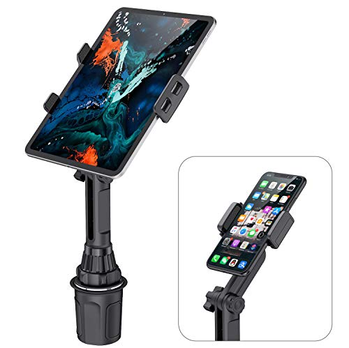 Cup Tablets Holder for Car, WixGear Car Cup Holder Tablet and Phone Mount Adjustable Automobile Cup Holder Smart Phone Cradle Car Mount
