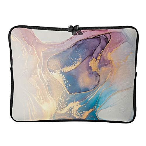 Standard Marble Texture Ink Laptop Bags Theme Reusable - Modern Style Laptop Cases Suitable for Business White 12 Zoll