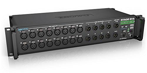 Motu Stage Box 16 X 12 Scheda Audio Avb Ethernet/Usb e Mixer, Nero