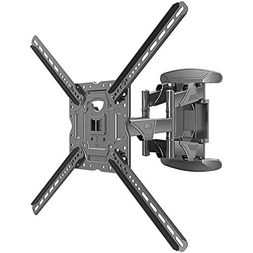 HDGFYTOR Soporte TV Pared de 32-70 Pulgadas Plana Curva LED LCD, Montaje Giratorio e Inclinable para TV de Movimiento Completo, Resistentes de hasta 36.4 kg, VESA máx. De 600x400 mm