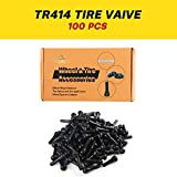 TR414 Rubber Snap-in Tire Valve Stem for 0.453 inch Rim Holes on Standard Vehicle Tires (100pcs/Box)