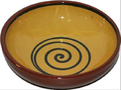 Amazing Cookware Bol Motif Spirale Jaune/Vert 17 cm