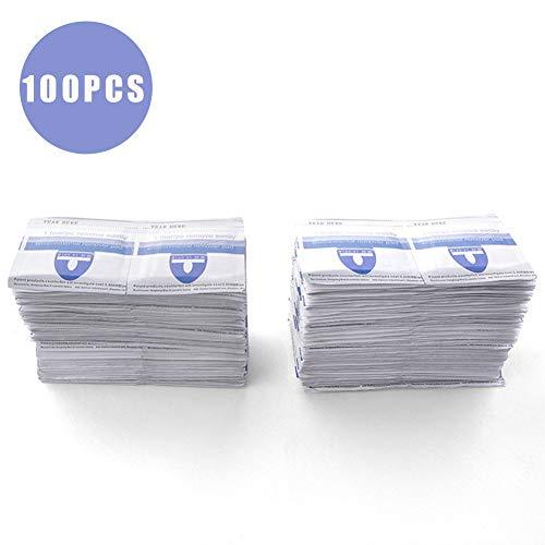 Beito Nail Polonais Remover 100Sheets jetables Ongles polonais Tampons Douvecteur Soak Off Gel Nail Wraps Individuellement scellé Scellant polonais pour salon des ongles ou l'utilisation à domicile