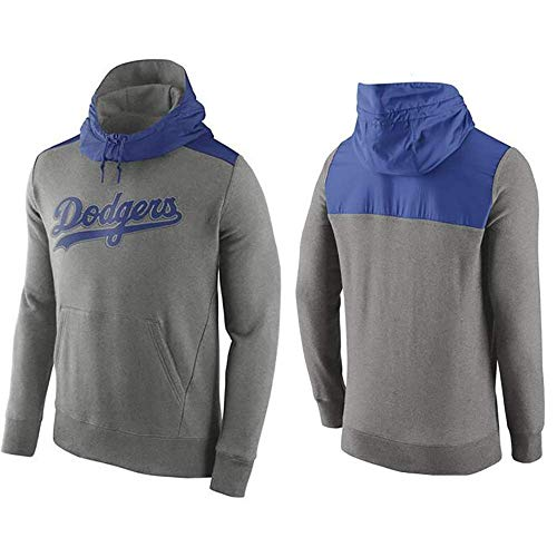 JBER MLB Herren Kapuzenpullover, Mit Los Angeles Dodgers Logo Major League Baseball Team Uniform Fans Trikots Sweatjacke Pullover Hoodie Mit Kapuze Unisex (F,XXL)
