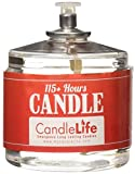 CandleLife Emergency Survival Candle (Set of 4) - 115 Hours Long Lasting Burning Time - Great Source of Light for Blackout, Camping, Fishing and Hunting - Smoke & Odor-Free | Clear Mist