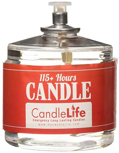 CandleLife Emergency Survival Candle (Set of 4) - 115 Hours Long Lasting Burning Time - Smoke & Odor-Free | Clear Mist